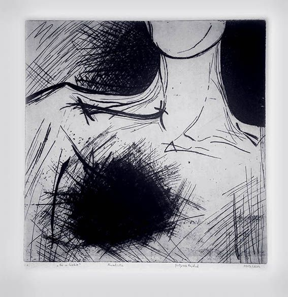'What's new?' / intaglio / etching / by Justyna Hajduk