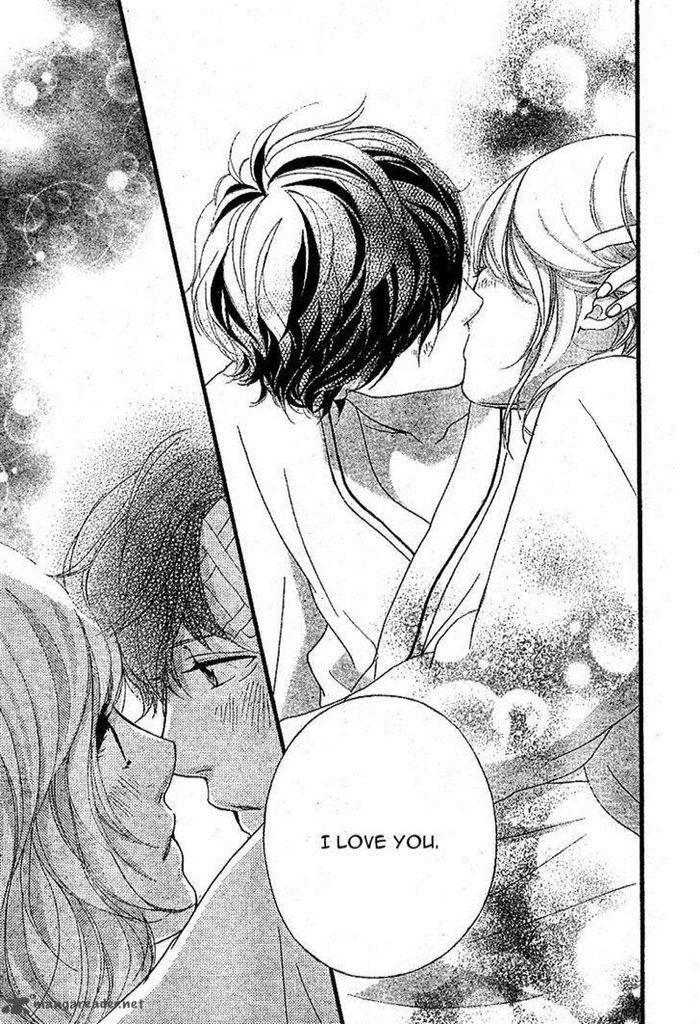 They're finally together! #Ao Haru Ride, Futaba and Kou, anime couple, manga couple, manga kiss, anime kiss