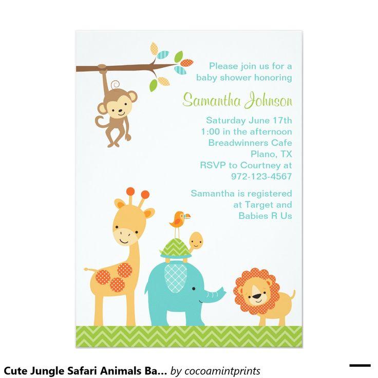 Safari Baby Shower Invitations Template