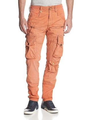 58% OFF PRPS Men's Savoy Slim Fit Washed Cargo Pant (Flame)