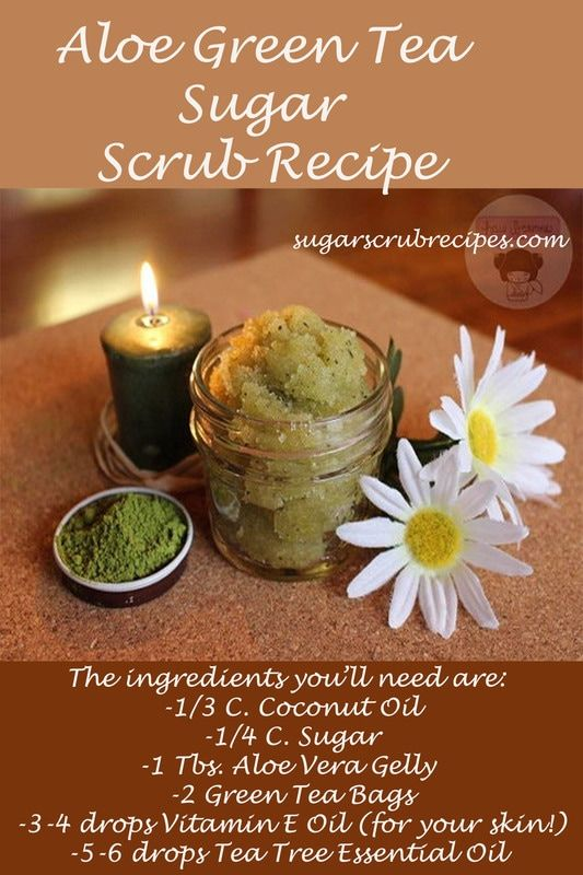 Aloe Green Tea Sugar Scrub Recipe-diy sugar scrub