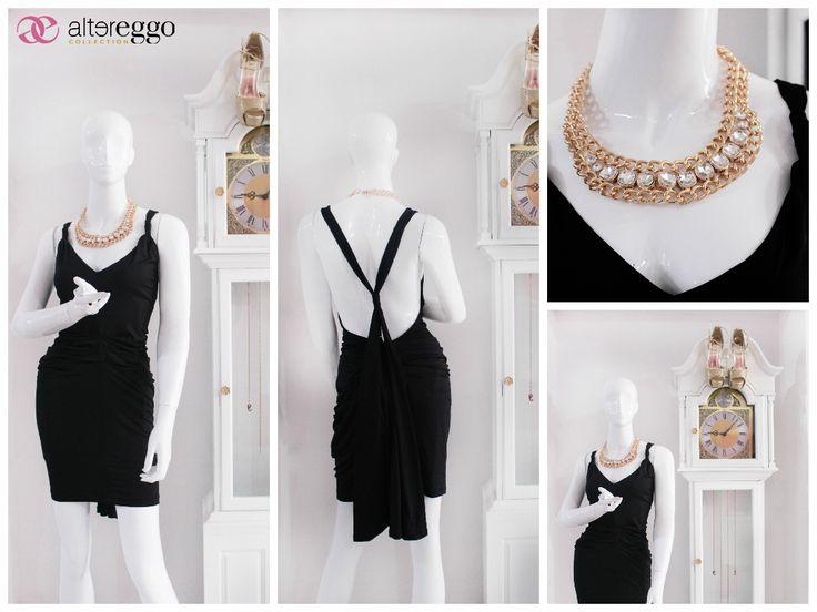 #moda #fashion #otoño #invierno #2014 #nueva #temporada #nueva #coleccion #NewCollection #moda #para #chicas #mini #little #black #dress #vestido #negro #escote #profundo #espalda #sexy #antro #fiesta #party