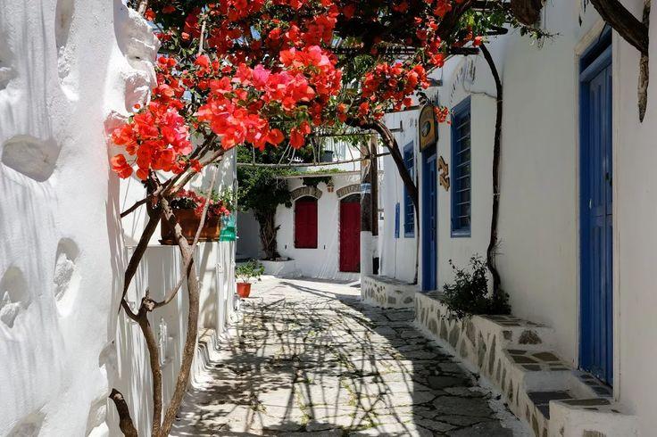 An alley in Amorgos town, Greece