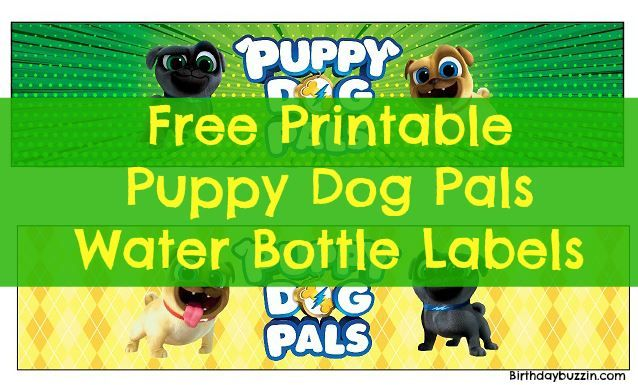Free Printable Puppy Dog Pals Water Bottle Labels 2nd Birthday