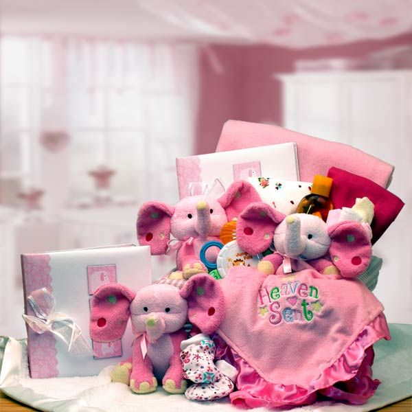23 best baby gift baskets images on pinterest baby gift baskets a baby is heaven sent gift basket pink or blue is a great choice if you negle Images