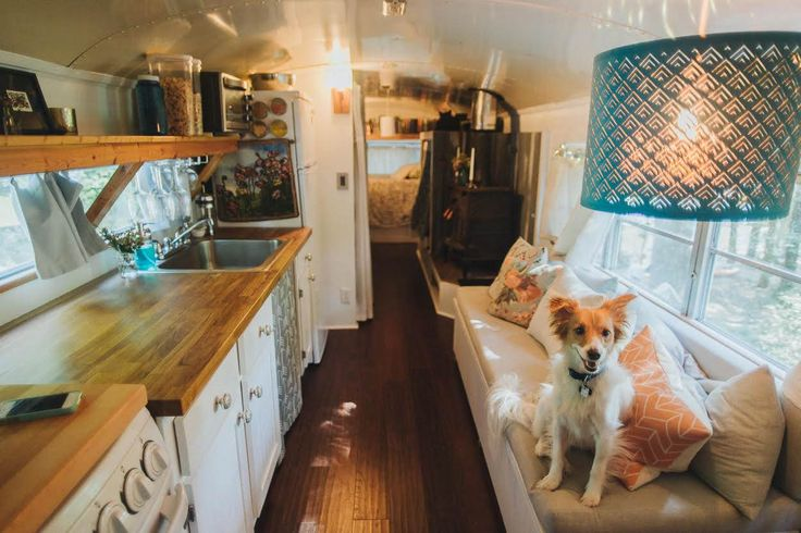 """""""I had the idea to search used tiny houses, and in doing so, found out about school bus conversions,"""" Julie Puckett told TODAY.com."""