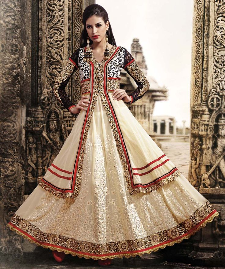 Designer Anarkali Suit with Jacket Style