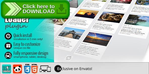[ThemeForest]Free nulled download Lazy Loader - Infinite scroll JQuery plugin from http://zippyfile.download/f.php?id=47680 Tags: ecommerce, ajax loader, infinite scroll, lazy loader, loader, pagination, scrolling
