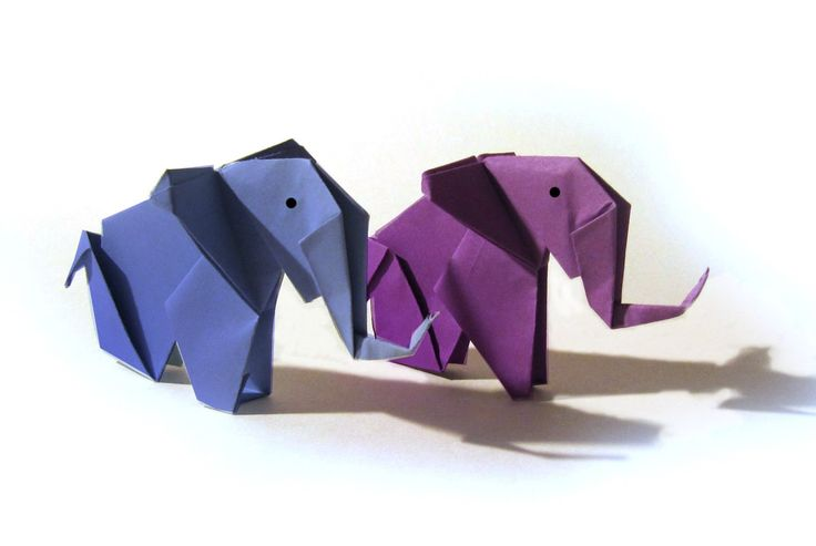 Origami Elephant - Tutorial - How to make an origami Elephant                                                                                                                                                      More