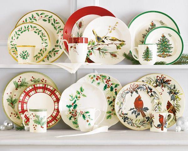 57 Beautiful Christmas Dinnerware Sets: Lenox & Spode Christmas Dinnerware Collections (Belk)
