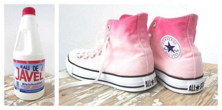 Zur Zeit stehe ich ja auf alles mit Farbverlauf:   T-Shirts, Shorts...Taschen oder auch Schuhe.      Ich habe meine pinkfarbenen Chu...