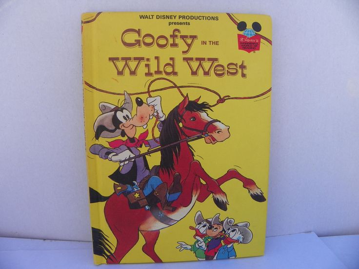 Goofy In the Wild West - Disney's Wonderful World Of Reading Hardcover Book - First American Edition , 1981 Disney , Children's Story Book by ShersBears on Etsy
