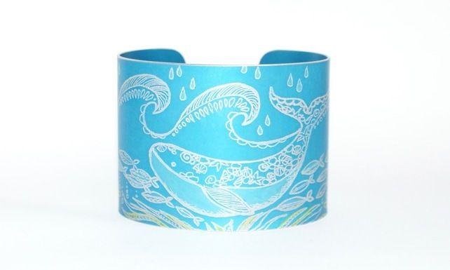 Under the sea whale cuff £29.95
