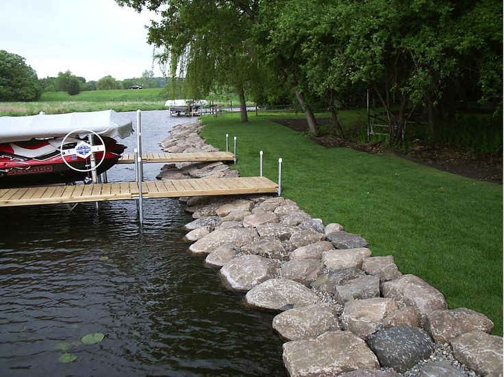 1000 images about rip rap on pinterest landscaping for Design of pond embankment