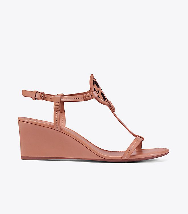Visit Tory Burch to shop for Miller Wedge Sandal, Leather and more Womens  View All. Find designer shoes, handbags, clothing & more of this season's  latest ...