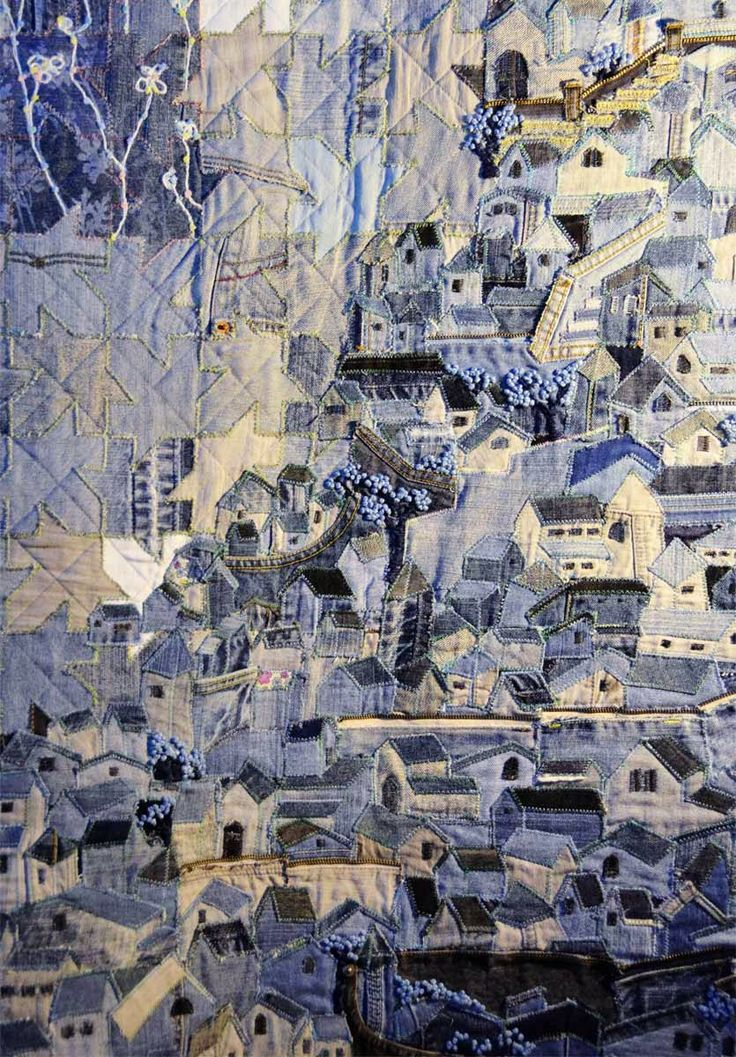 """Nihon Show 2011 - """"In the Blue"""" Denim Quilt by Soo Hee Lee from Korea detail......amazing"""