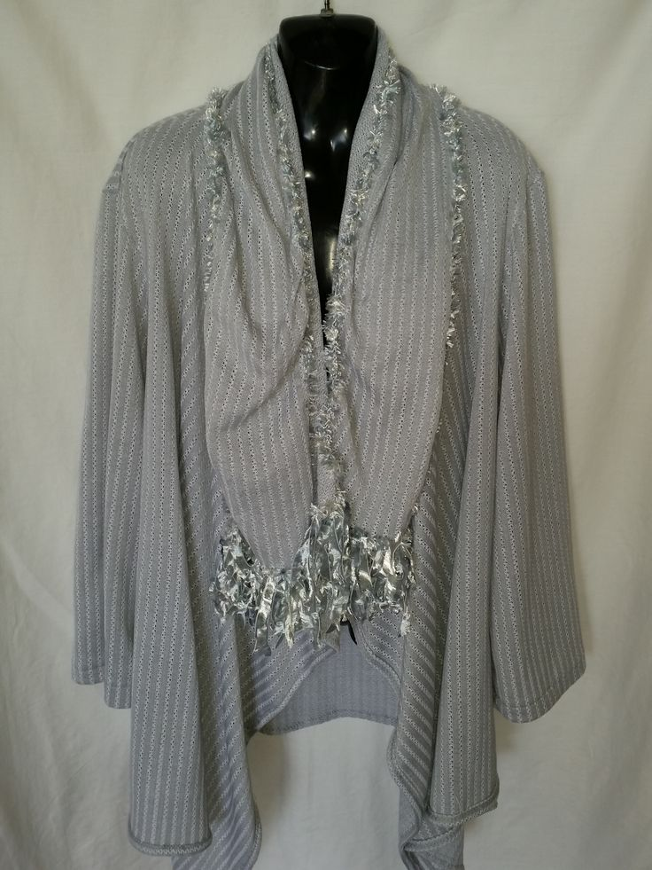 This is a stretch Knitted material I have made a beautiful XL   Jacket and Scarf to match I have been selling them on eBay