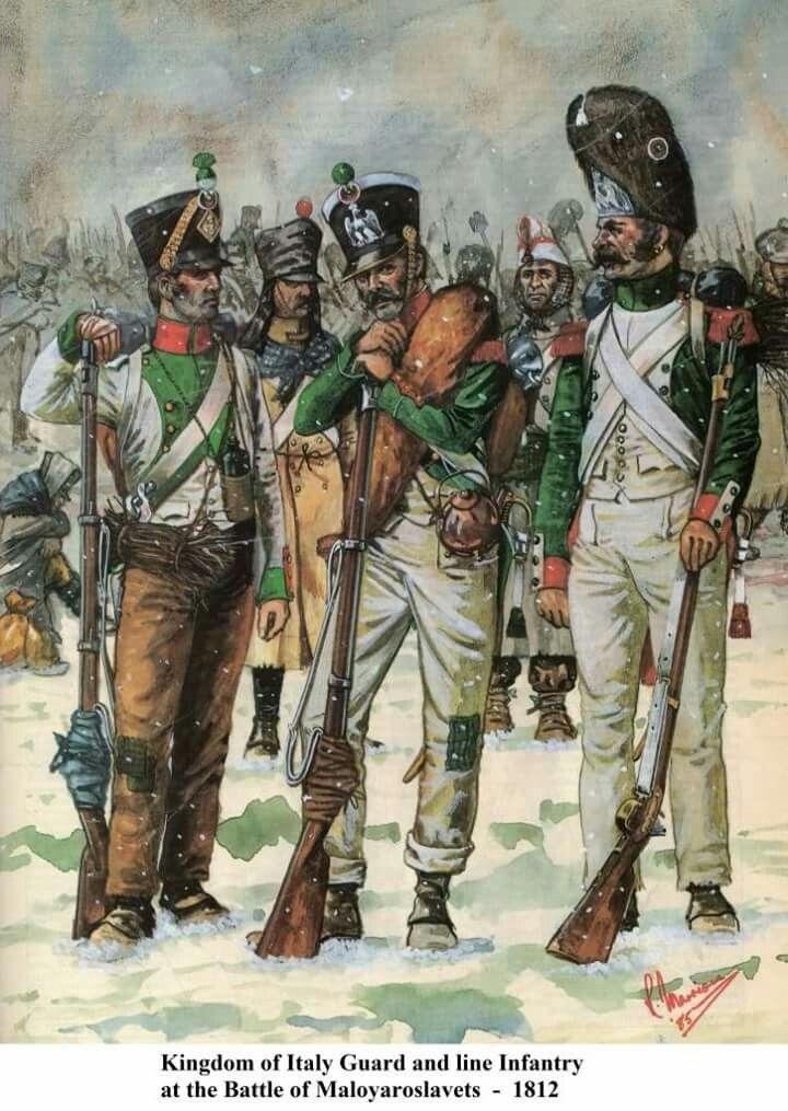 Italian Guard & line Infantry 1812