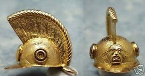 14k gold vintage ROMAN CENTURION HELMET charm Rome  | eBay