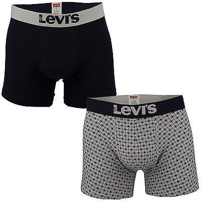 Mens levi's #shashiko print 2 pack boxer #shorts in #white navy-elasticated,  View more on the LINK: http://www.zeppy.io/product/gb/2/401239020874/