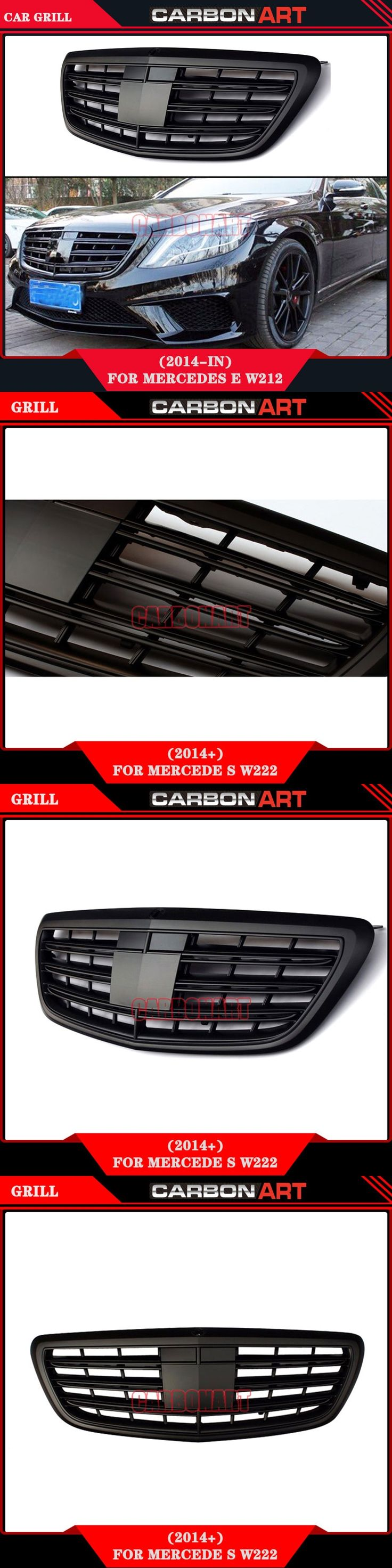 2014 Mercedes s class W222 S63 AMG Design Matt Black abs replacement car front grill mesh auto grill