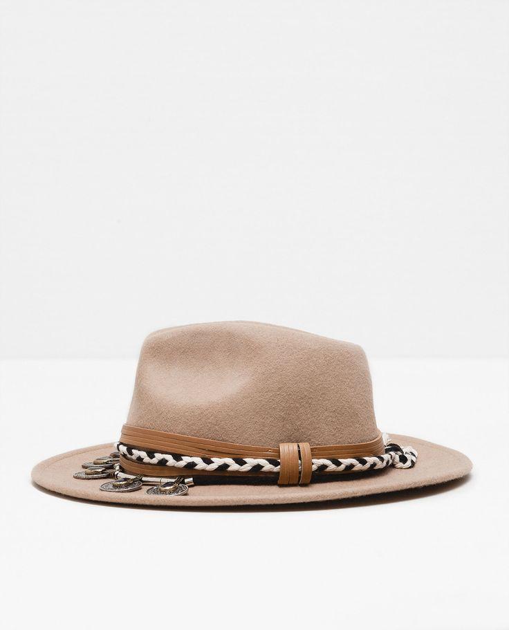 Sombrero fieltro monedas sombreros accesorios mujer Zara dekoration