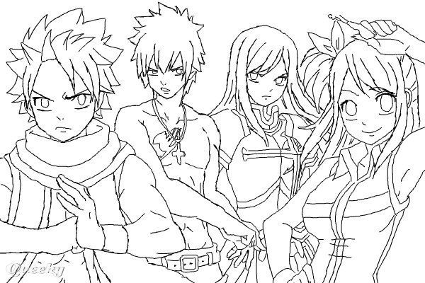 55 Best Fairy Tail Coloring Pages Images On Pinterest