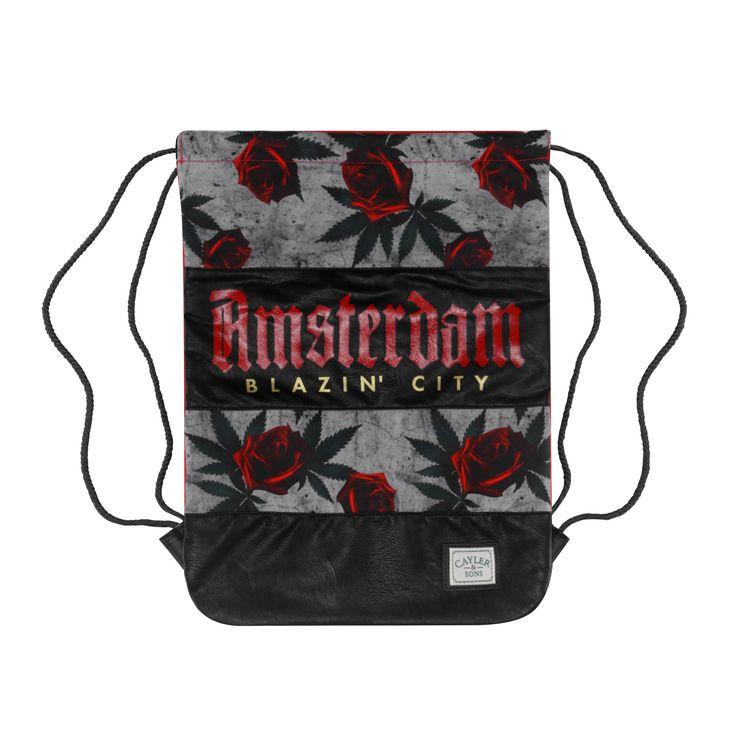 AMSTERDAM GYMBAG  €24.99 #rome #roma #dablocksquad #shopping #trap #backpack #sprayground #picoftheday #caylerandsons #buckets #streetwear #snapbacks #dablockshop #snapback #cap