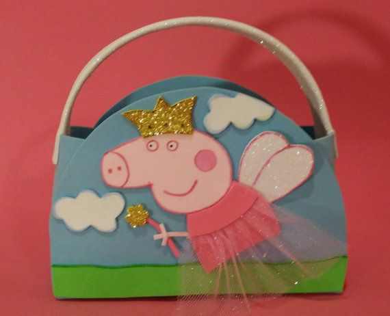 12 Peppa Pig Party Favors Bags Goody Bags by KaryfePartyCreations