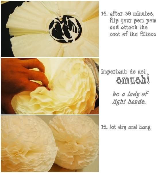 Oh @Stephanie Mosely We may just have our next craft hmmmm?? How fun are these?  Coffee filter flowers.