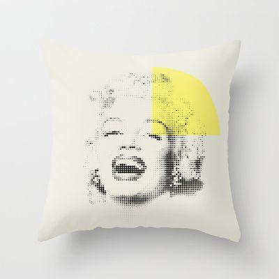 Marilyn Monroe   Esperantos   Dot-file #1 Throw Pillow by Esperantos - $20.00