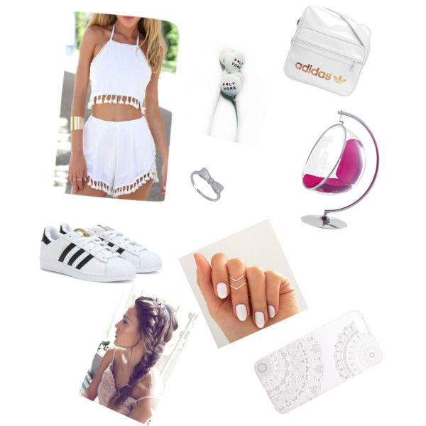 White / Sommer by artur-bauer on Polyvore featuring polyvore fashion style adidas Monika Strigel