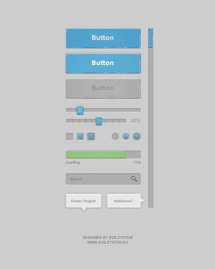 Bluish Interface by Evil-S on DeviantArt