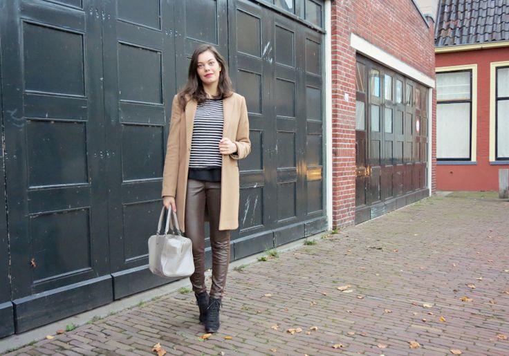Bruine halfleren broek H&M (Kleiderkreisel)