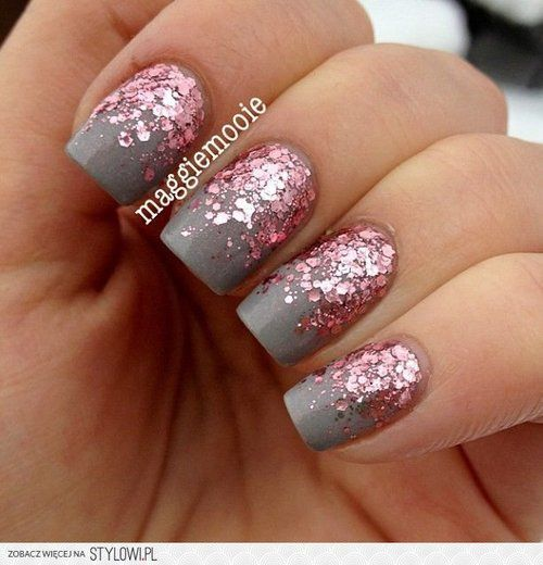 matte with glitter combo cool