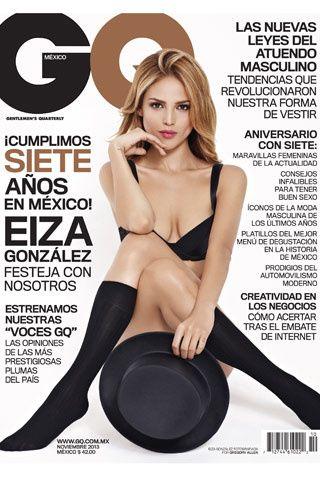 Eiza González en nuestra portada de Noviembre 2013.