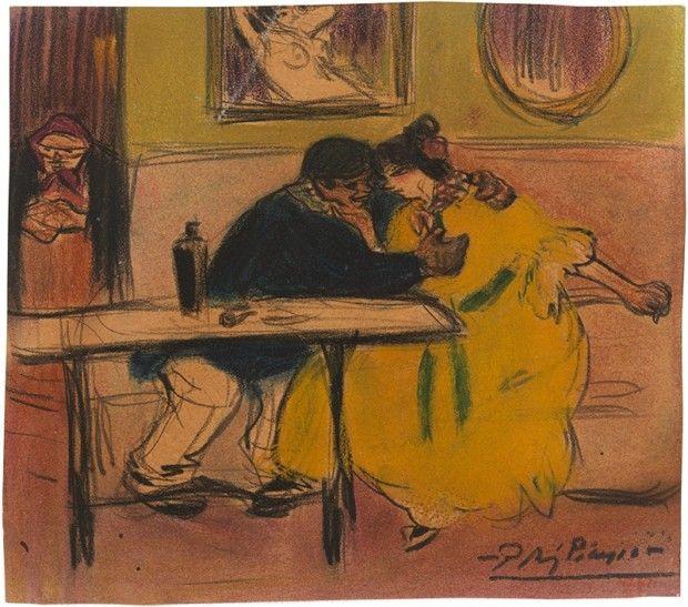 Pablo Picasso. The divan. c. 1899, Museu Picasso, Barcelona early picasso