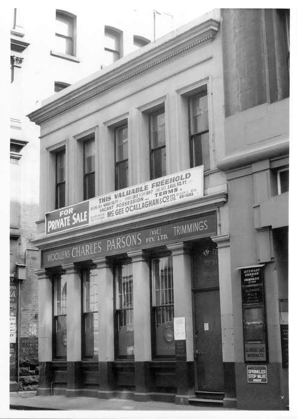 Building Flinders Lane Melbourne Victoria Australia (City)
