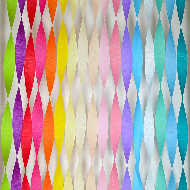 Easy Party Decoration Paper Streamers 6pk In 2019
