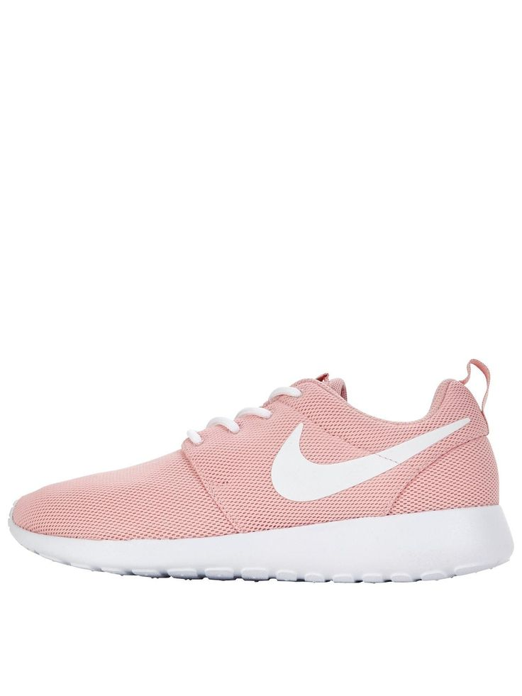 Nike Roshe One - Pink/White Treat your feet to the pretty pink hue and plush cushioning of the Roshe One by Nike. Lightweight and breathable, they feature a mesh upper and a Solarsoft sockliner that lend themselves to sock-free wear, perfect for the warmer months! The EVA foam outsole absorbs impact and spreads it evenly across your foot to reduce aches and strains on your busiest days. Keep your look fresh with light wash denims and a pastel pink tee to match. Lining: TextileMaterial:...