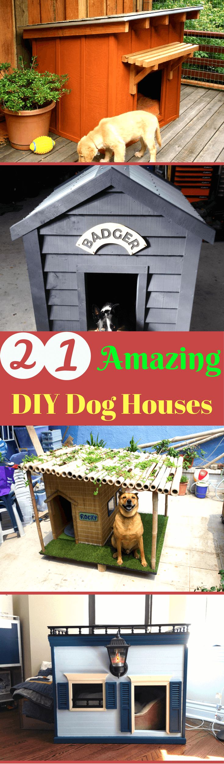 21 Awesome DIY Dog Houses With Free Step-by-Step Plans