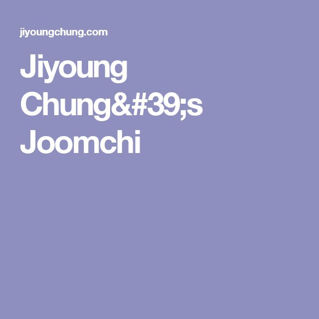 Jiyoung Chung's Joomchi
