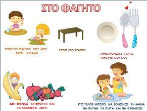 Κανόνες για την τουαλέτα,το μπάνιο,το φαγητό και το παιχνίδι στο σπίτι μέσα από…