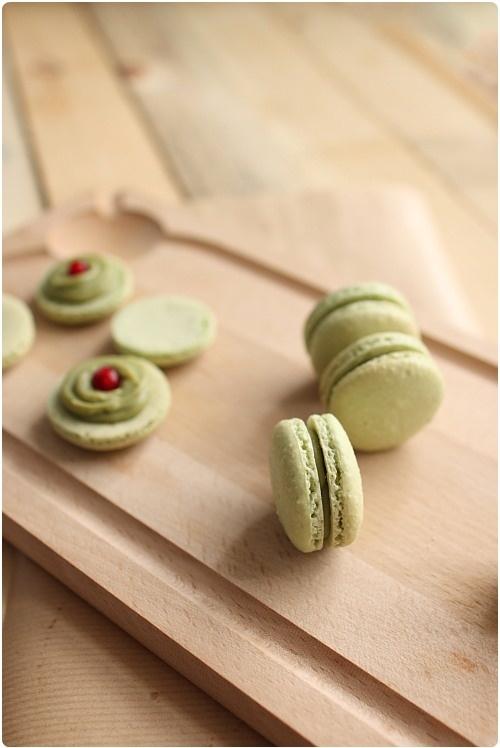 "Macarons ""surprise"" au thé vert matcha"