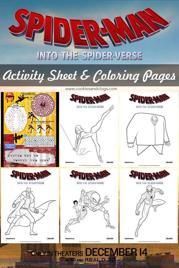 Sneak Peek Of Spider Man Into The Spider Verse Printable