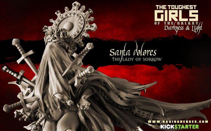 Santa Dolores, The Lady of Sorrow, Psychic Seer (Sisters - F/SF)   Raging Heroes