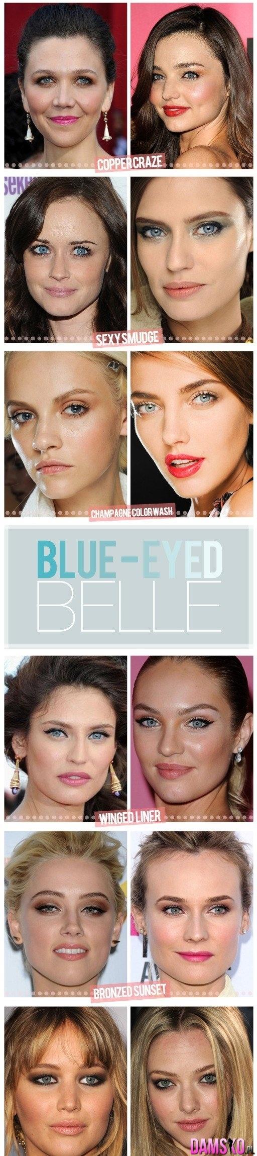 Jak malować niebieskie oczy