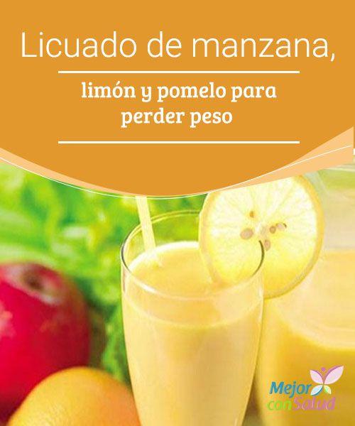 Licuado de #manzana, limón y pomelo para perder peso   Este delicioso #batido de manzana, limón y pomelo te va a ser muy útil en el día a día para favorecer la #pérdida de peso.¡Descubre cómo prepararlo!