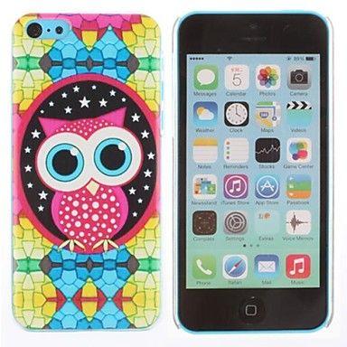 Fargerik Briller Owl mønster vanskelig sak for iPhone 5C – NOK kr. 23
