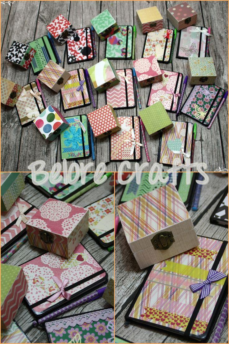 """Cajas decoradas con papel de la colección """"La cosa más dulce"""" de la marca Recollections - Belore Crafts #box #handmade #decoupage"""
